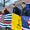 KRISTOPHER RADDER - BRATTLEBORO REFORMER<br /> More than two dozen students and citizens gathered at Brattleboro Union High School on Friday, March 30, 2018, before the start of classes to rally in support of the second amendment.