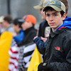 KRISTOPHER RADDER - BRATTLEBORO REFORMER<br /> Thomas Drummey, a junior at Brattleboro High School, help organize the rally to show support for the second amendment before the start of classes on Friday, March 30, 2018.