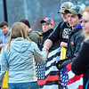 KRISTOPHER RADDER - BRATTLEBORO REFORMER<br /> People shake the hands of Brattleboro Union High School students who rallied before the start of class to show support for the second amendment on Friday, March 30, 2018.