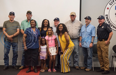 Raniqua Franklin and her family attend a surprise reunion with the Tyler fire fighters who rescued her in 1993.