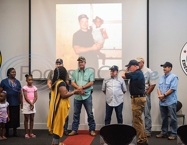 Raniqua Franklin, 30, is reunited with Tyler fire fighter Jim Mullicane who rescued her from a fire when she was three years old and found unconscious and not breathing Franklin was reunited with the fire fighters who worked the 1993 fire at Fire Station 1 on Friday, June 5, 2020.
