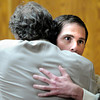 "Adam Raszynski hugs defense attorney Seth Temin after hearing the not guilty verdict on Friday, March 23, during the second-degree murder trial of Adam Raszynski at the Boulder County Justice Center in Boulder. Raszynski was on trial for the murder of his mother Rita Redford but will be released from custody after being found not guilty. For a video interview with the defense council go to  <a href=""http://www.dailycamera.com"">http://www.dailycamera.com</a><br /> Jeremy Papasso/ Camera"