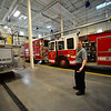 KRISTOPHER RADDER - BRATTLEBORO REFORMER<br /> Brattleboro Firefighter Michael Heiden gives a tour of the new central station on Friday, Dec. 22, 2017.