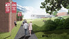 An architectural rendering of Chadron State College's Math Science COIL facing east. (Courtesy BVH)