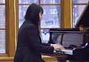 Chadron State College music major Natsuki Sato performs at the Piano Studio Recital Thursday, April 27, 2017, in the Sandoz Center Chicoine Atrium. (Photo by Tena L. Cook/Chadron State College)