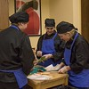 The Gordon-Rushville team prepares their meal for the Eagle Cook-Off in the Burkhiser technology Complex during Chadron State College's 57th annual Scholastic Contest Friday, April 7, 2017. (Tena L. Cook/Chadron State College)