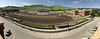 A panoramic view from Miller Hall as construction continues at Beebe Stadium. Construction is expected to be largely complete for the first home football game of the 2018 season on September 1. (Photo by Casey Roberts/Chadron State College)