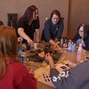 Participants discuss uses for natural items at Chadron State College's 29th annual Excellence in Early Childhood Conference Saturday, Feb. 17, 2018, in the CSC Student Center. (Photo by Tena L. Cook/Chadron State College)