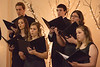 Members of the Chadron State College Concert Choir perform at the Chadron Arts Center Sunday, Nov. 11, 2018.  (Tena L. Cook/Chadron State College)