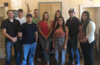 Chadron State College students enrolled in the Rural Law Opportunities Program pose during a reception at the Bean Broker Aug. 22, 2019. Front row, from left, Carlos Calle of Chadron, and Samantha Carrillo of Alliance, Neb. Back row, from left, Scott Wheeler of Imperial, Neb., Gunnar Buchhammer of Scottsbluff, Neb., Carter Thiele of Oakland, Neb., Alexandria Nobiling of Chadron, Elizabeth Rotherham of Crawford, Neb., Cole Retchless of Bridgeport, Neb., and Ana Salinas-Muniz of Beaver City, Neb. (Courtesy photo)