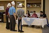 The Gering High School team waits for questions about the meal they prepared from the panel of Eagle Cook-Off judges during the 57th annual Eagle Cook-Off. (Photo by Tena L. Cook/Chadron State College)