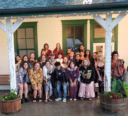 Summer Upward Bound students and leaders pose at Fort Robinson's Post Playhouse July 20, 2019. (Courtesy photo)
