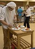 Chance Greco of Sturgis-Brown High School prepares a meal during the Eagle Cook-Off portion of the 57th annual Scholastic Contest at Chadron State College Friday, April 7, 2017. (Photo by Tena L. Cook/Chadron State College)