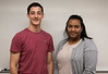Chadron State College students Wacey Gallegos, left, of Ainsworth, Neb., and Lelisse Umeta, of Addis Ababa, Ethiopia, presented the results of their work at a recent science conference in Nebraska City. (Photo by Tena L. Cook/Chadron State College)