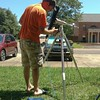 Dr. Jeremy Weremeichik, assistant professor of Physical and Life Sciences at Chadron State College, tests a system to record the total solar eclipse in Starkville, Miss., July 9, 2017. The Citizen CATE Experiment system includes a computer, telescope and camera. Weremeichik will record in the path of totality near Hyannis, Neb., on Aug. 21, 2017. (Courtesy photo)