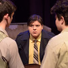 "Eddie (Samuel Thomas Martin) speaks to his sons Jay (Wacey Gallegos) and Artie (Brie Royle). Chadron State College's production of ""Lost in Yonkers"" by Neil Simon is student-directed by Molly Thornton. (Photo by Daniel Binkard/Chadron State College)"