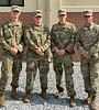 Chadron State College Army ROTC cadet Sam Klammer of Juniata, Neb., poses at Army Airborne school in Fort Benning, Ga. From left, Klammer, Patrick Henderson of Radford University, Miles Routh of University of Southern Florida, and Marcos Torres of University of Central Florida. The school was May 8-30, 2019.<br /> (Courtesy photo)