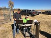 Joe Reedy, left, collects field data in November 2015 for a groundwater model in Colorado with his co-worker Kyle Liebig. Reedy, a Chadron State College alumnus and water scientist with Adaptive Resources, Inc., will speak on campus March 21, 2019, in the Sandoz Center at 5 p.m. (Courtesy photo used with permission)