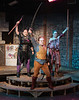 """Lilith (Brittney Palmer), left, and Kaliope (Mikayla Ames), right, are led by Tillius (Shanie Hollenbeck) during the """"Dungeons and Dragons"""" scenes in """"She Kills Monsters."""" The play by Qui Nguyen was presented by the Chadron State College Theatre program. (Photo by Daniel Binkard/Chadron State College)"""