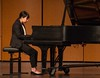 Chadron State College music major Natsuki Sato performs her junior piano recital in Memorial Hall Saturday, April 1, 2017. (Photo by Tena L. Cook/Chadron State College)