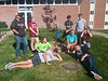 Chadron State College students pose for a photo outside of Kent Hall after completing campus beatifications with Project Strive/TRiO, Wednesday, Sept. 4, 2019. Front row, from left, Brennann Jackson and Jaylon Martinez. Middle row, from left, Alyssa Wingler, Brooklyn Jones and Haylee Paton. Back row, from left, Jacob Durflinger, Janessa Carley, Cody Madrigal and Cooper Reichman. (Courtesty photo)
