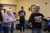 Dr. Una Taylor leads student volunteers and Prairie Pines residents in dances from around the world during The Big Event Saturday, April 22, 2017. (Photo by Tena L. Cook/Chadron State College)