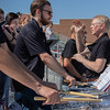 The Eagle band, led by Dr. John Wojcik, right, at the Chadron State College Sports Complex Dedication Saturday, Sept. 15, 2018. (Photo by Tena L. Cook/Chadron State College)