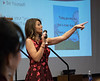 """Speaker Heather Williams invites audience participation during the Chadron State College Social Work 435 conference, """"Suicide: Starting the Conversation,"""" in the Student Center Wednesday, Nov. 7, 2018. (Tena L. Cook/Chadron State College)"""