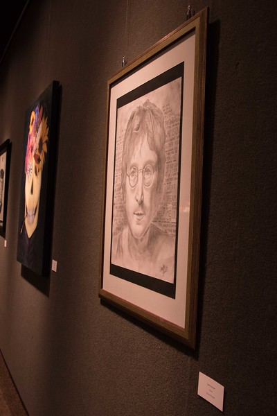 The Chadron State College Art Department All Student Juried Art Show in the Main Gallery in Memorial Hall until Friday, April 28, 2017, is an annual event the art department organizes to showcase the work of all art students. An outside juror determines which pieces qualify for the show. (Photo by Kelsey R. Brummels/Chadron State College)