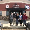 Chadron State College Social Work students pose during a tour of the Rosebud Reservation in South Dakota April 20, 2017. From left, Elizabeth Goodell, Justin Hartman, Kaitlyn Adrian, Lauren Newman and Jessy Bale. (Courtesy photo)