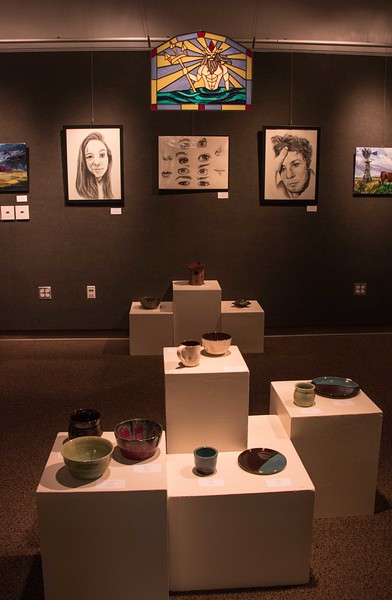 Work by Chadron State College Advanced Art Studio students is on display April 3-14 in Memorial Hall's Gallery 239. (Photo by Tena L. Cook/Chadron State College)