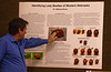 Chadron State College Professor Dr. Mat Brust presents information Feb. 11, 2020, about lady beetles he has identified in western Nebraska. (Photo by Tena L. Cook/Chadron State College)