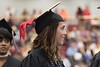 Jade Capezzuto waits to walk across the stage and receive her diploma during Chadron State College's undergraduate commencement at the Chicoine Center May 6, 2017. (Photo by Tena L. Cook/Chadron State College)
