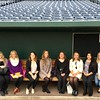 "Chadron State College students pose in a TD Ameritrade Park dugout  in Omaha during a ""Careers in Communication"" field trip Nov. 7-9, 2016. From Left, Shae Brennan, Alyssa Sanders, Megan O'Leary, Torri Brumbaugh, Christie Hammack, Kira Fish, Raychel Thomas, Angela Cruz, Justine Stone and Dr. Shaunda  French, associate professor. (Courtesy photo)"