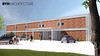 An architectural rendering of the south entrance of Chadron State College's Math Science COIL. (Courtesy BVH)