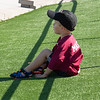 A young fan at the Chadron State College Sports Complex Dedication Saturday, Sept. 15, 2018. (Photo by Tena L. Cook/Chadron State College)