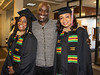Mother and daughter celebrate earning their MBA degrees following Chadron State College's Graduate Winter Commencement Friday, Dec. 14, 2018, in Memorial Hall. From left, Marcia and Michael Satchell of Boston, Mass. and Shemia Perry of New York, N.Y. (Tena L. Cook/Chadron State College)
