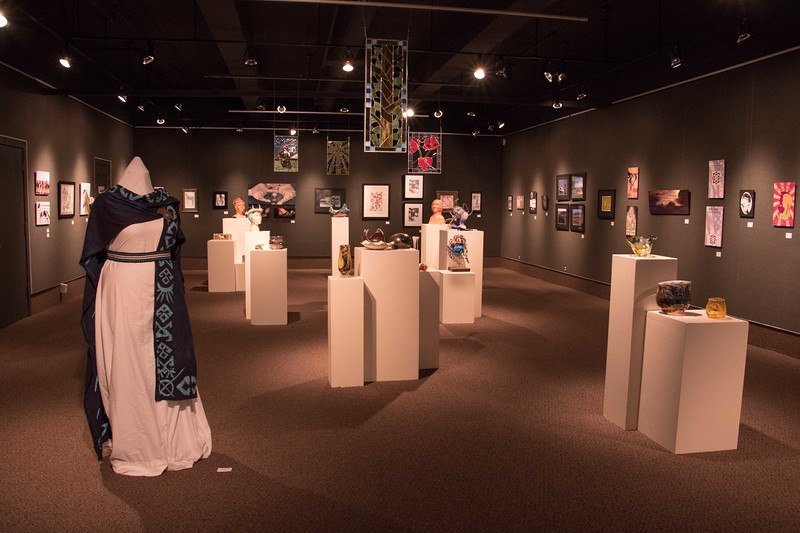The Chadron State College Senior Art Show  in Memorial Hall's Main Gallery is open April 3 through April 14, 2017. A free, public reception will be Friday from 5 to 7 p.m. in Memorial Hall. (Photo by Tena L. Cook/Chadron State College)