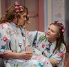 "M'Lynn, right, played by Mickenzi Loyd, speaks to Shelby, played by Kaitlynn Hessler, during Chadron State College's production of ""Steel Magnolias,"" by Robert Harling. (Photo by Daniel Binkard/Chadron State College)"