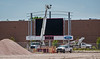 The new Daktronics combination scoreboard and video screen installation is underway at Beebe Stadium on the Chadron State College campus. Construction is expected to be largely complete in time for the first home game of the 2018 season on September 1. (Photo by Daniel Binkard/Chadron State College)