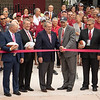 Nebraska State College System Chancellor Stan Carpenter, left, and Chadron State College President Dr. Randy Rhine prepare to cut the ribbon at the dedication of the Chadron State College Sports Complex Dedication Saturday, Sept. 15, 2018. (Photo by Tena L. Cook/Chadron State College)