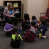 "Chadron State College student Emma Day of Yuma, Colo., talks to students about ""Bartholomew and the Oobleck"" during Dr. Seuss Day Monday, Feb. 26, 2018, in Old Admin. (Photo by Kelsey R. Brummels/Chadron State College)"