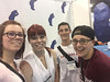 """Chadron State College students pose at the American Psychological Association convention in Denver Aug. 4-7, 2016. From left, Andrea du Fresne, Laural Harris, Wacey Gallegos and Catherine """"Cate"""" Mailloux. Not pictured: Nehemiah """"Miah"""" Soler. (Courtesy photo)"""