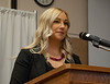 """Amy Carnahan with Western Community Health Resources at the Chadron State College Social Work 435 conference, """"Suicide: Starting the Conversation,"""" in the Student Center Wednesday, Nov. 7, 2018. (Tena L. Cook/Chadron State College)"""