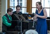 Members of the Chadron State College music department, Bobby Pace, left and Pam Shuler, right, perform their faculty recital Sunday, April 2, 2017, in the Sandoz Center's Chicoine Atrium. (Photo by Alex Coon/Chadron State College)