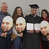Michael, Ashley, William and Stephanie Rauert of Bakersfield, Calif., pose after undergraduate Winter Commencement in the Chicoine Center Friday, Dec. 15, 2017. (Photo by Tena L. Cook/Chadron State College)