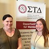 Chadron State College students Stephanie Gardener, left,  and Rachel Dowling pose while attending the national Sigma Tau Delta convention in Louisville, Kentucky, March 29-April 1, where they each presented an original composition. (Courtesy photo)