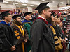 Faculty members stand during Chadron State College's Undergraduate Winter Commencement Friday, Dec. 14, 2018, in the Chicoine Center. (Photo by Tena L. Cook/Chadron State College)