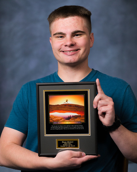 Dean Michel, Project Strive/TRiO Student of the Month for April 2017. (Photo by Daniel Binkard/Chadron State College)