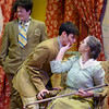 """Grandma Kurnitz (Taylor Thies) speaks to her grandson Jay (Wacey Gallegos) as his brother Artie (Brie Royle) winces in sympathy. Chadron State College's production of """"Lost in Yonkers"""" by Neil Simon is student-directed by Molly Thornton. (Photo by Daniel Binkard/Chadron State College)"""